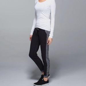 Lululemon Yoga Base Runner Coco Pique Black Pants